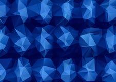 Голубая полигональная абстрактная предпосылка текстуры треугольника бесплатная иллюстрация