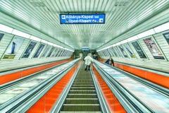 голубая подкраска подземки станции подземная Стоковая Фотография RF