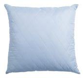 Голубая подушка изолированная с путем клиппирования Стоковая Фотография RF