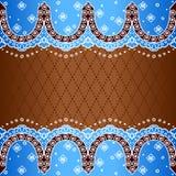 Голубая предпосылка воодушевленная индийскими дизайнами mehndi Стоковые Изображения