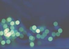 Голубая предпосылка зеленого света Стоковые Изображения
