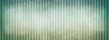 Голубая предпосылка зеленого цвета и белых бежевая striped с винтажными границами дизайна и виньетки текстуры Стоковые Изображения RF