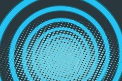 Голубая предпосылка искусства шипучки радио кольца круга Стоковая Фотография