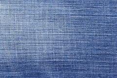 Голубая предпосылка и текстура демикотона, частично бледнеют джинсов Стоковое Изображение RF