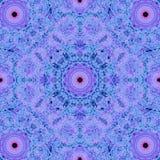 Голубая предпосылка калейдоскопа Стоковое Изображение RF