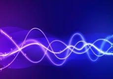 Голубая предпосылка конспекта волны Стоковая Фотография