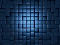 Голубая предпосылка кубов Стоковые Изображения