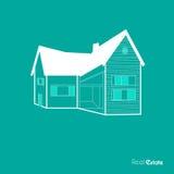 Голубая предпосылка недвижимости Стоковые Изображения RF