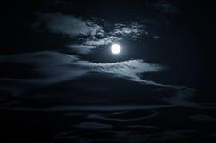 Голубая предпосылка ночи Стоковые Фото