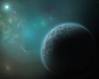 Голубая предпосылка планеты Стоковое Изображение RF