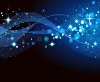 Голубая предпосылка рождества конспекта рождества Стоковые Изображения RF