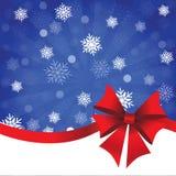 Голубая предпосылка рождества с смычком подарка иллюстрация штока