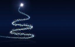 Голубая предпосылка рождества Стоковые Фото