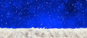Голубая предпосылка рождества Стоковое фото RF