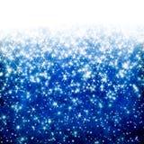 Голубая предпосылка рождества Стоковое Изображение