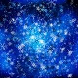 Голубая предпосылка рождества Стоковые Фотографии RF