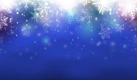 Голубая предпосылка рождества Стоковое Фото
