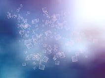 Голубая предпосылка серой белизны запачканная пурпуром Стоковое Изображение