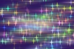 Голубая предпосылка с запачканными звездами Стоковые Изображения