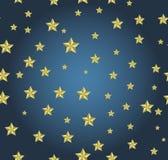 Голубая предпосылка с звездами золота Стоковое Изображение RF