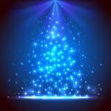 Голубая предпосылка с звездами Стоковая Фотография