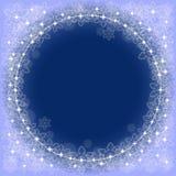 Голубая предпосылка с снежинками Стоковое Фото
