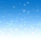 Голубая предпосылка с bokeh Стоковая Фотография