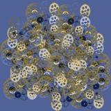 Голубая предпосылка с Clockworks бесплатная иллюстрация