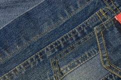 Голубая предпосылка текстуры джинсовой ткани демикотона Стоковая Фотография RF