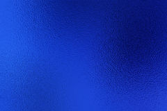 Голубая предпосылка текстуры фольги Стоковое фото RF