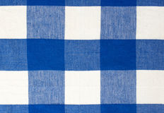 Голубая предпосылка ткани ткани пикника Стоковые Фото