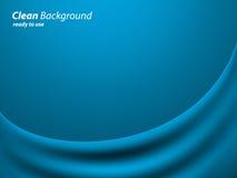 Голубая предпосылка ткани цвета Стоковые Изображения RF