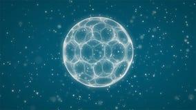 Голубая предпосылка футбольного мяча иллюстрация вектора