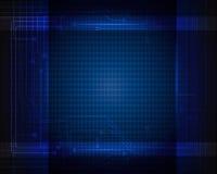 Голубая предпосылка цепи абстрактной технологии Стоковая Фотография RF