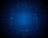 Голубая предпосылка цепи абстрактной технологии Стоковое фото RF