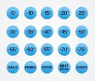 Голубая продажа стикера Стоковые Изображения RF