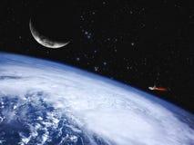 Голубая планета, предпосылки абстрактной науки Стоковая Фотография