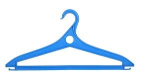 Голубая пластичная вешалка одежд Стоковые Фотографии RF