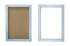 Голубая пластичная картинная рамка Стоковые Изображения RF