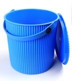 голубая пластмасса ведра Стоковое Фото