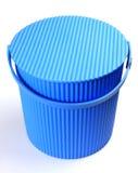 голубая пластмасса ведра Стоковое Изображение