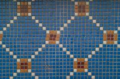 Голубая плитка мозаики Стоковые Фото