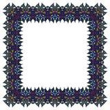 Голубая рамка вектора Изолированный квадратный элемент Стоковая Фотография RF