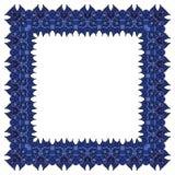 Голубая рамка вектора квадратный элемент Стоковые Изображения RF