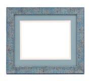 голубая рамка деревянная Стоковое фото RF