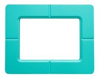 Голубая рамка фото - изолированная на белой предпосылке Стоковые Изображения