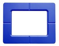 Голубая рамка фото - изолированная на белой предпосылке Стоковое Фото
