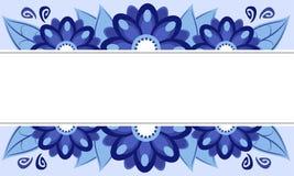 голубая рамка цветков иллюстрация штока