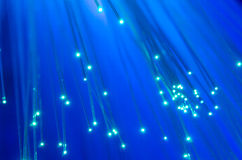 Голубая расплывчатая волоконная оптика стоковые изображения rf