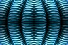 Голубая ребристая текстура Стоковая Фотография RF